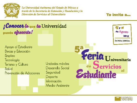 Programa 5a Feria Universitaria de Servicios al Estudiante