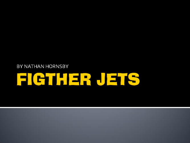 FIGTHER JETS