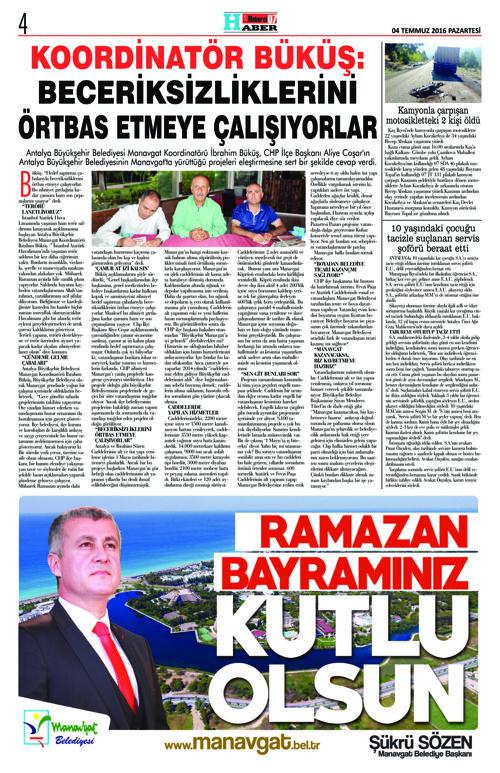 Haberci07 Gazetesi 130.Sayı 04.07.2016