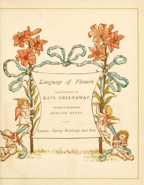 Language of Flowers by Kate Greenaway PREVIEW