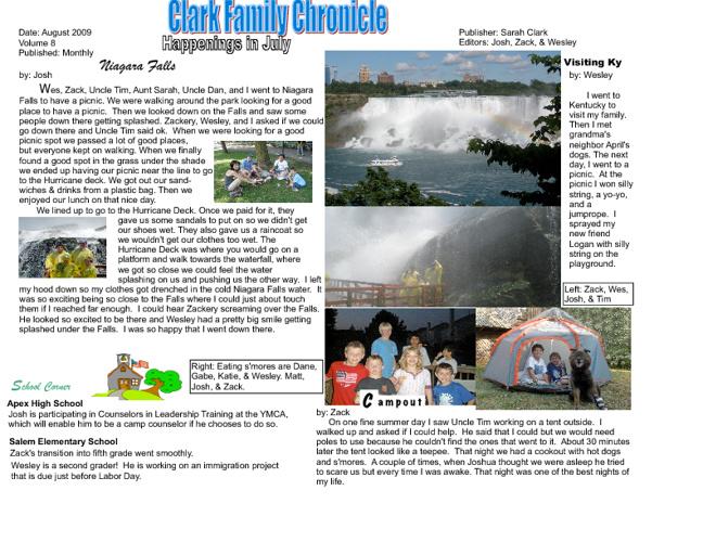 Clark Family Chronicles