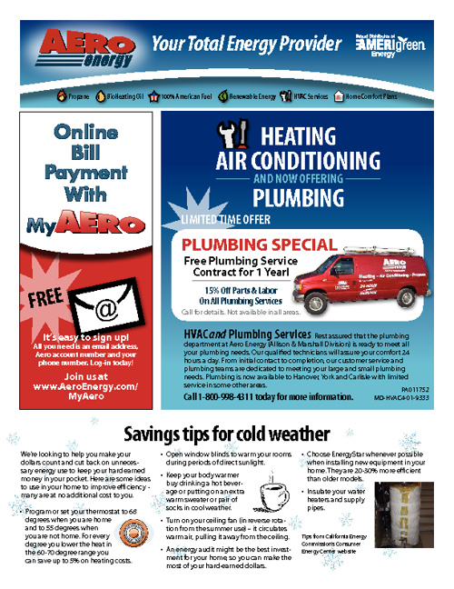 Aero Energy Winter 2012 E-newsletter