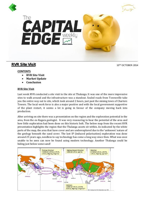 CAP EDGE WEEKLY 10th october