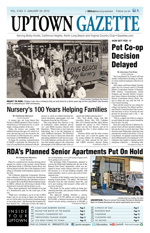 Uptown Gazette     January 20, 2012