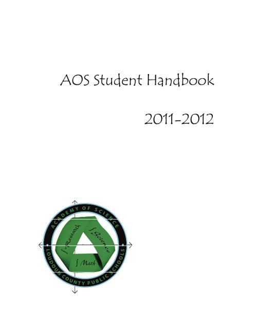 AOS Student Handbook