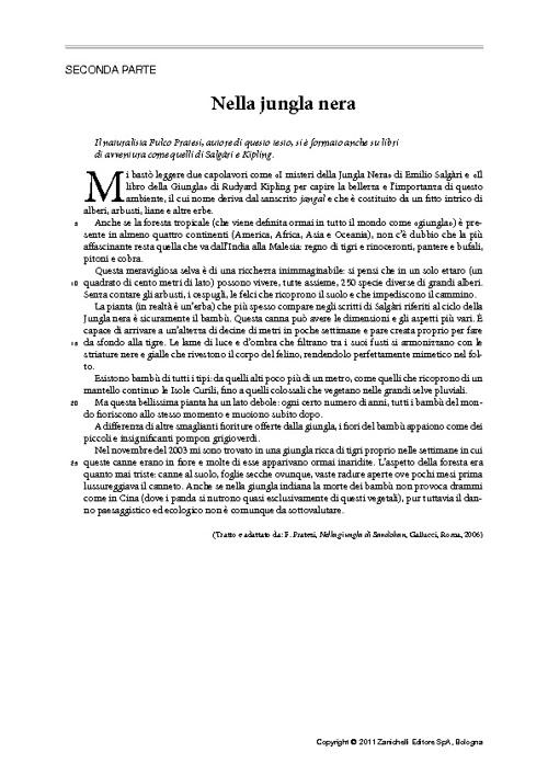 I.N.V.A.L.S.I. Prova di Italiano testo informativo