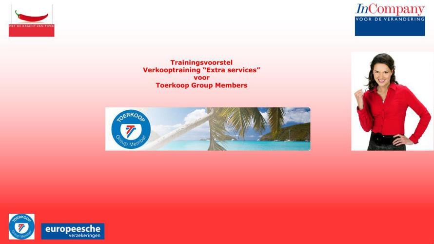 Trainingsvoorstel Toerkoop 2014