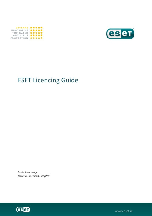 ESET Licencing Guide