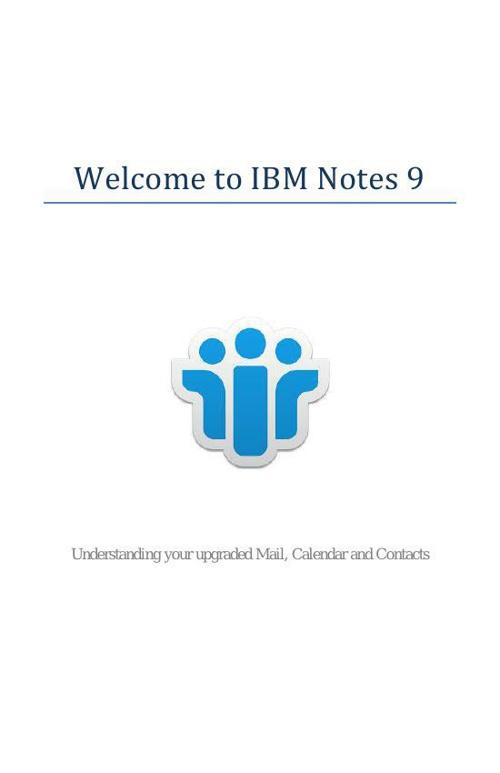 IBM Notes 9 Booklet