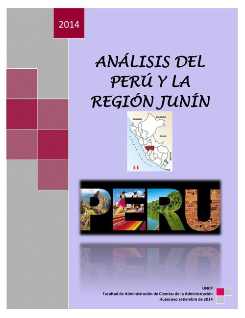 ANÁLISIS DEL PERÚ Y LA REGIÓN JUNÍNn