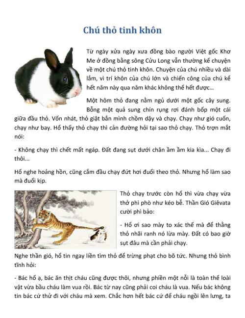 Chú Thỏ Tinh Khôn