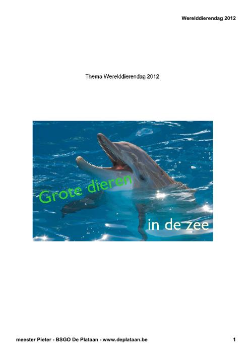 Grote dieren in de zee