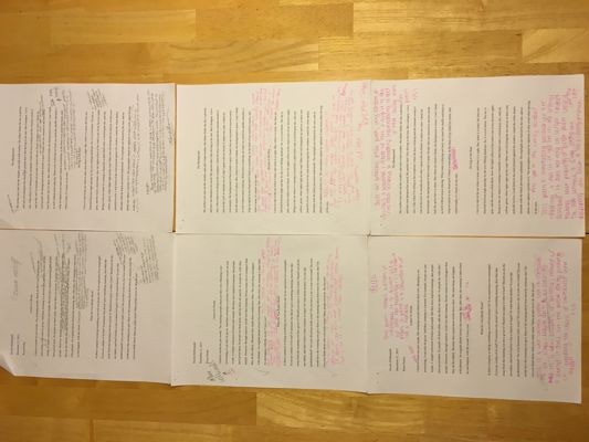 Prose poems rough drafts
