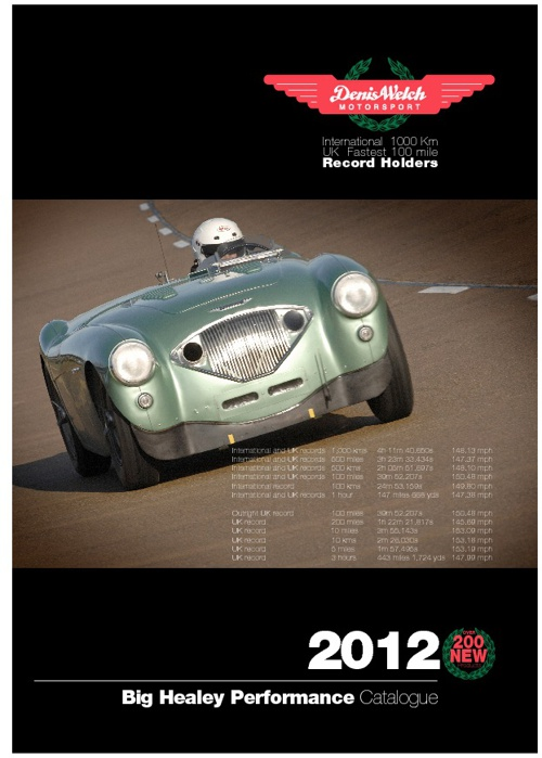 Denis Welch Motorsport Big Healey Performance Catalogue 2012