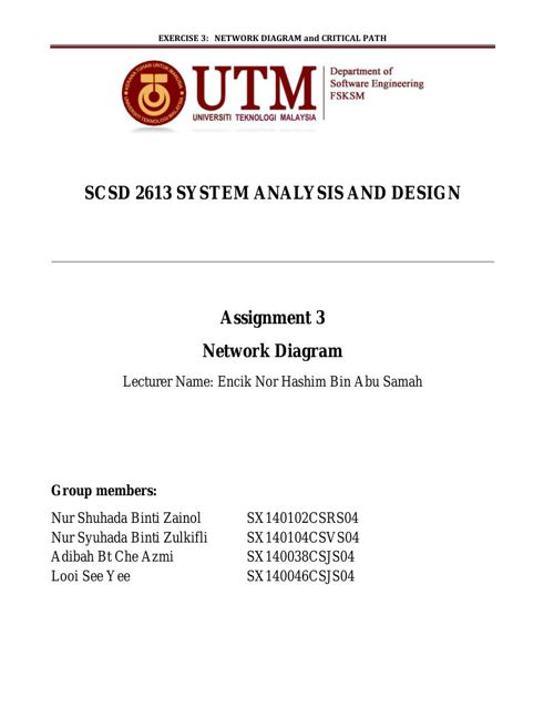 SCSD2613 Assignment 3 - Network Diagram