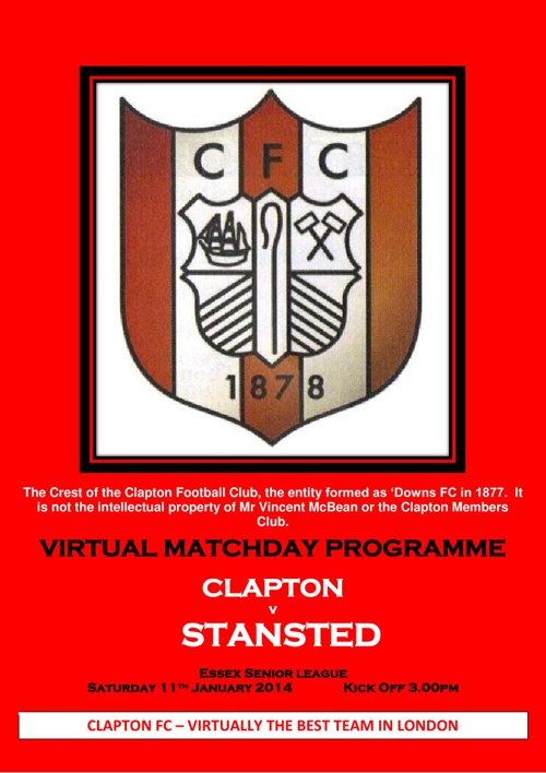 Clapton FC v Stansted FC