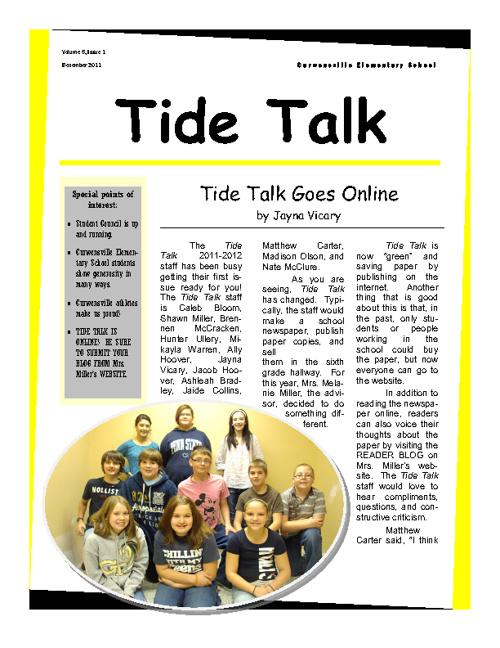 TIDE TALK, December 2011
