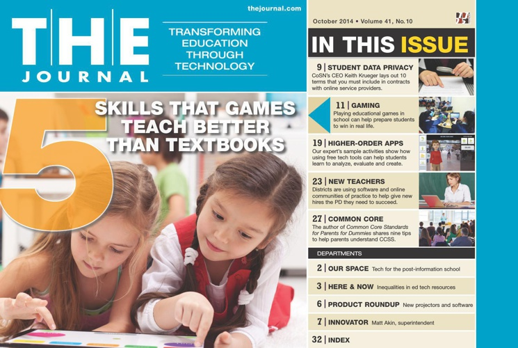 THE Journal - October 2014 - Transforming Education Through Tech