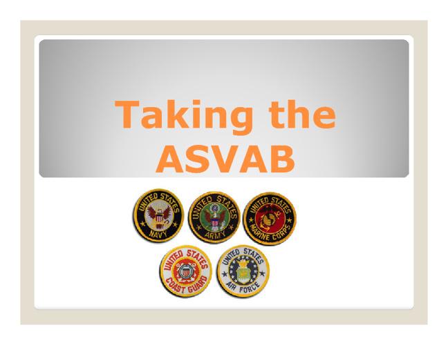 ASVAB Presentation