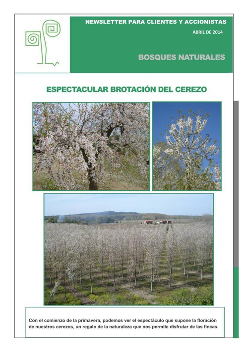 Newsletter Bosques Naturales. Primavera 2014