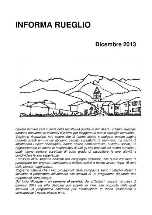 Informa rueglio n.8 2013-12