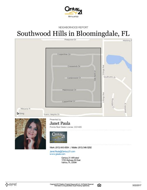 Neighborhood Report for Southwood Hills