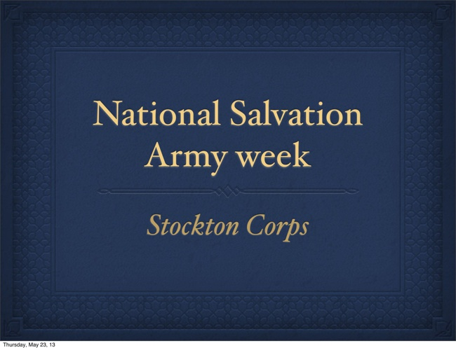 Stockton Corps - Mayor's Clergy Breakfast
