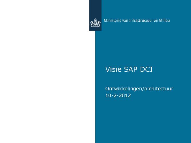 Visie op SAP