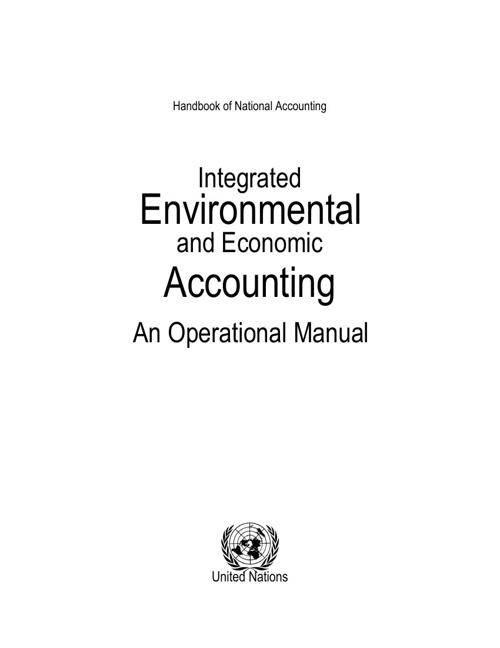 Handbook of National Accounting Integrated Environmental and Eco
