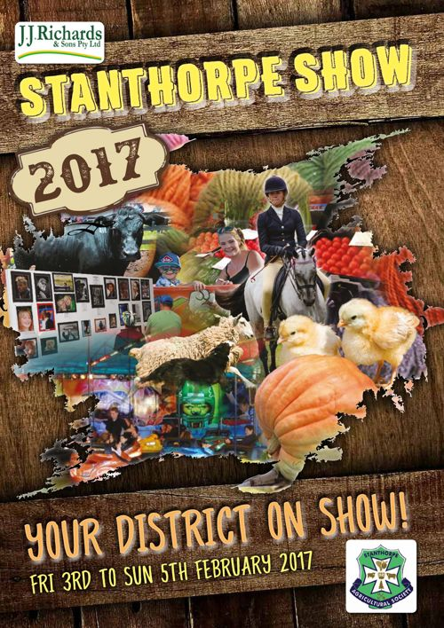 2017 Stanthorpe Agricultural Show Schedule