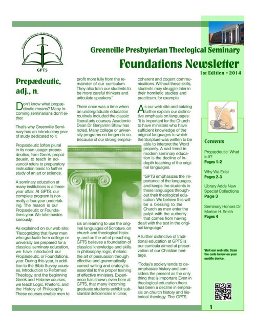 Foundations Newsletter