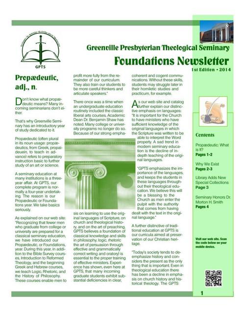 Foundations Newsletter