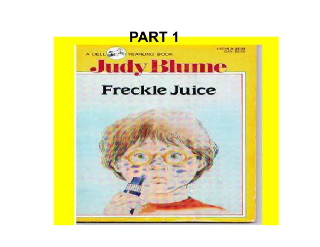 Freckle Juice 1