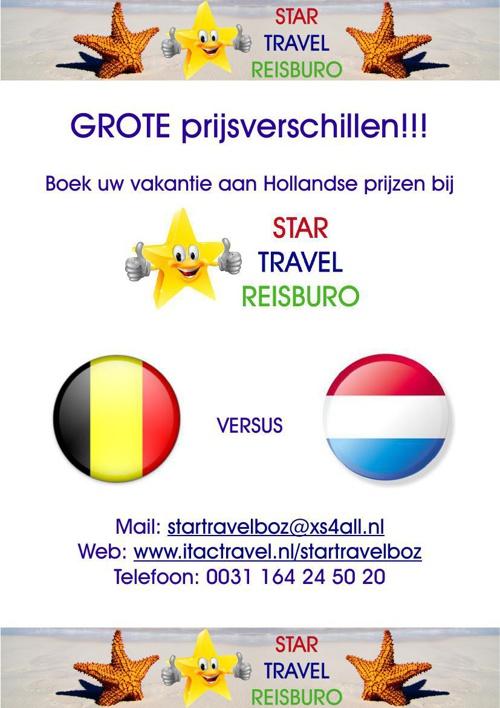 Boek aan Hollandse Prijzen bij Star Travel Reisburo!