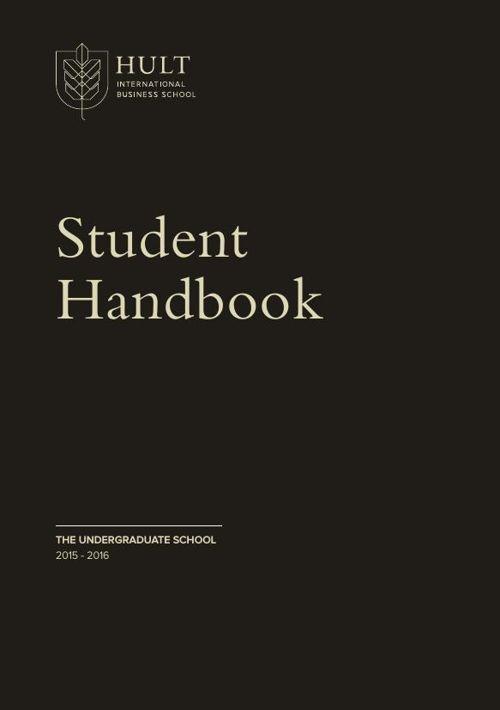 Hult Undergraduate Student Handbook