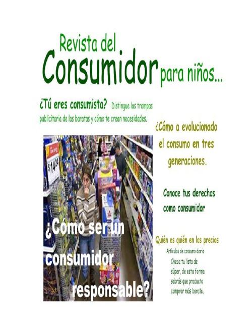 REVISTA DEL CONSUMIDOR PARA NIÑOS (3B)