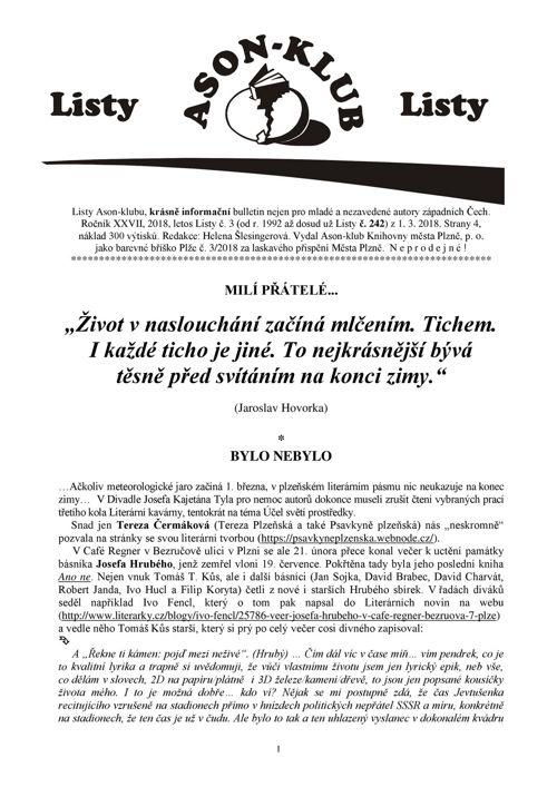Listy Ason-klubu 3/2018