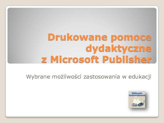 Drukowane publikacje z Publisher