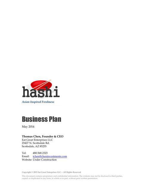 Hashi Business Plan