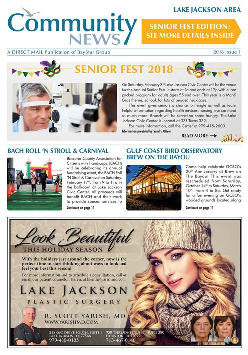 Lake Jackson Community News 2018 Issue 1 - Senior Fest Edition