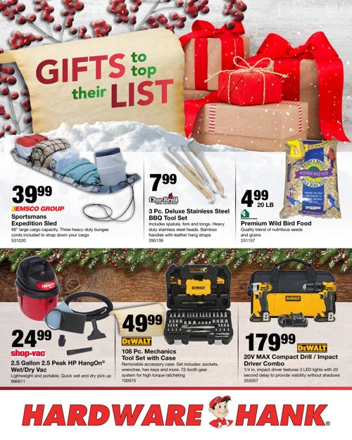 Shelby Paint and Hardware December Flyer