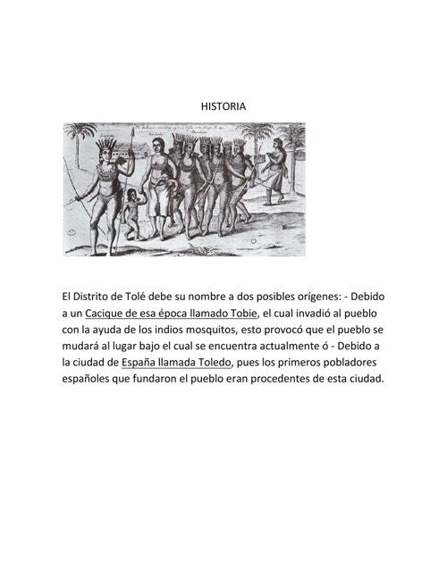 HISTORIA DE TOLÉ CHIRIQUÍ