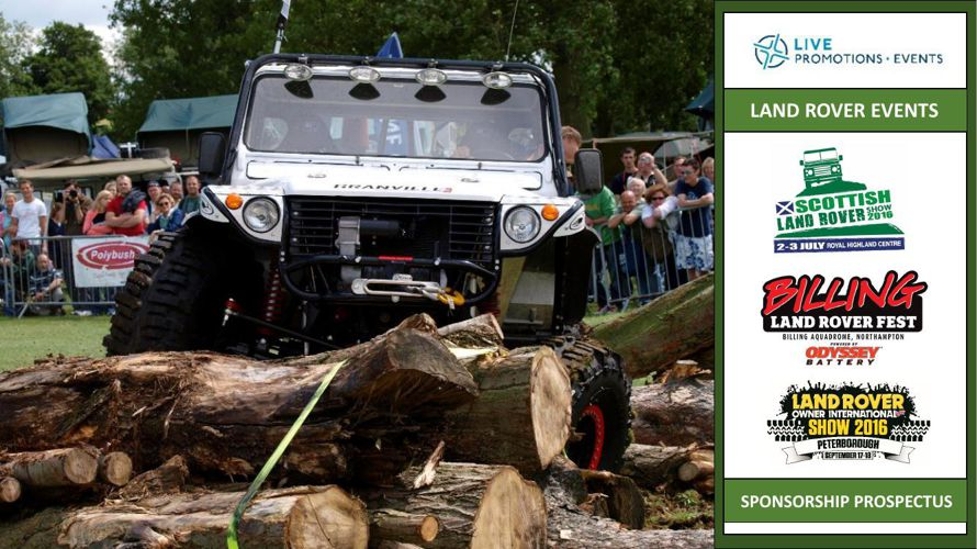Land Rover Shows Sponsorship 2016