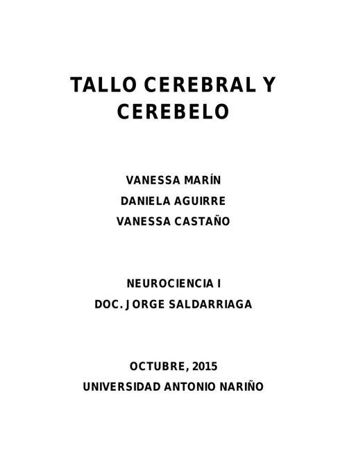 EL TALLO CEREBRAL PDF
