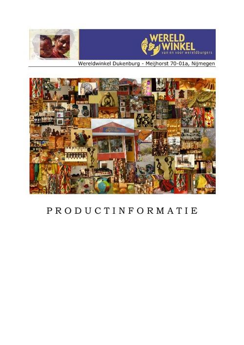 productinformatie Wereldwinkel Dukenburg