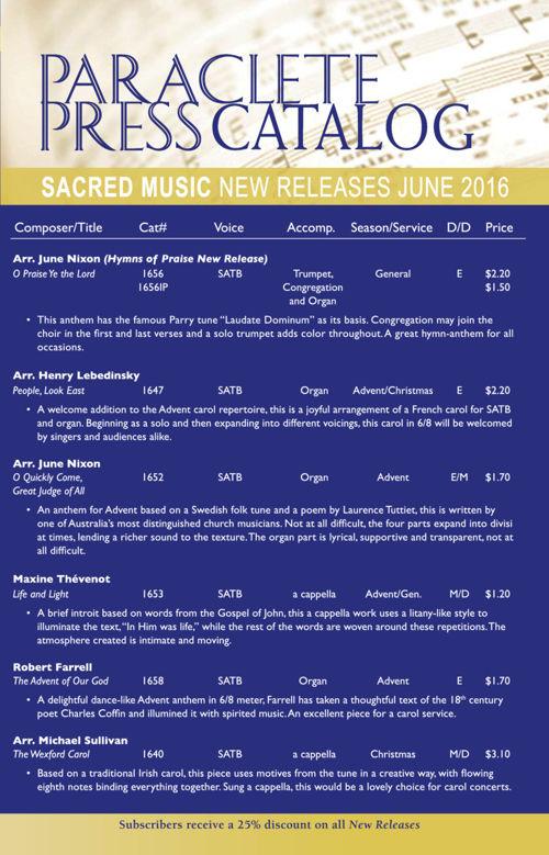 2016 New Releases- June