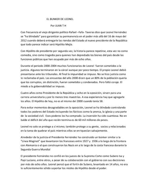 Artículos Juan TH