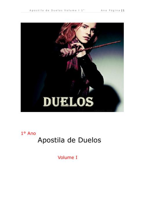 Livro de Duelos1° Ano - Aprendendo a duelar