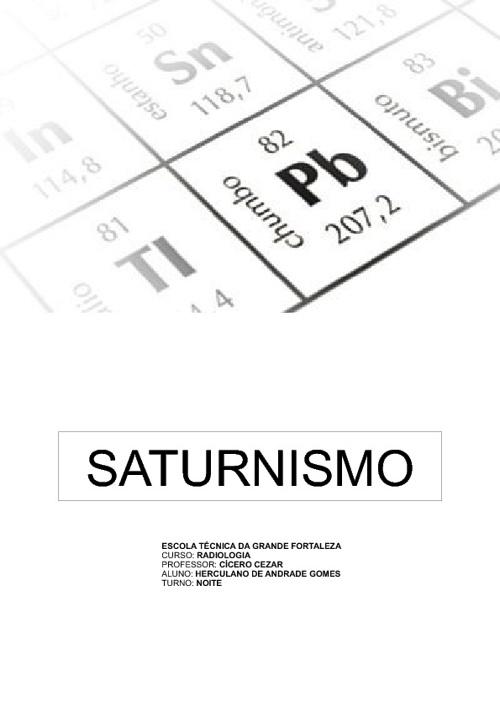 saturnismo