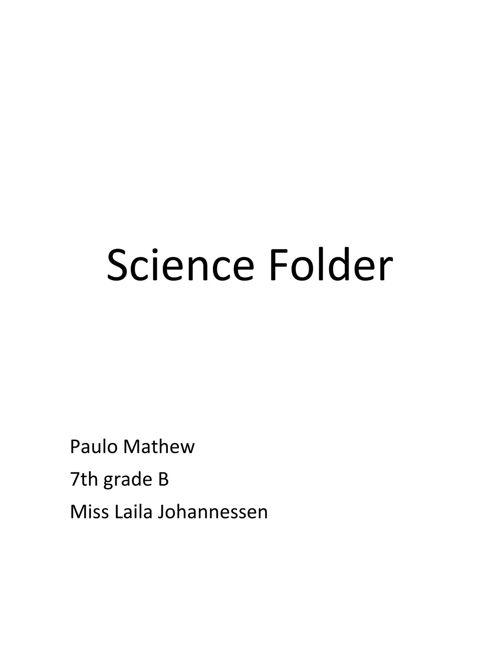 Proyecto Scince Paulo mathew
